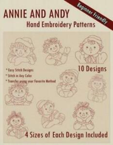 Ann And Andy Hand Embroidery Patterns $10.23