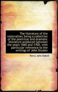 The Literature Of The Restoration; Being A Collection Of The Poetrical And ... $17.66