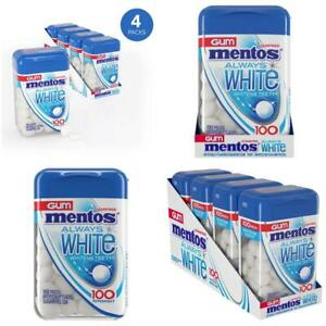 Mentos Always White Sugar-Free Chewing Gum with Xylitol, Peppermint, 100 Piece B