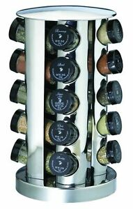 Kamenstein 20 Jar Stainless Steel Revolving Spice Rack Tower