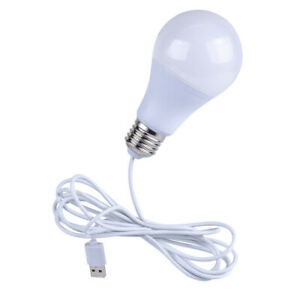 USB Powered LED Light Bulb Portable Night Emergency, for House, Outdoor Camping
