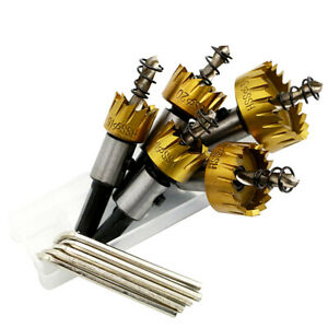 5PCS Hole Saw Opener Tooth Cutter Carbide Tip Drill Bit Set For Wood Steel Tool
