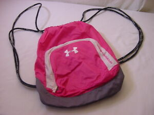 HOT PINK UNDER ARMOUR STRING BACKPACK PACK $24.00
