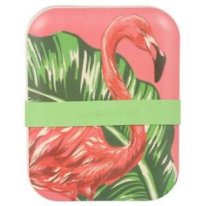 Eco One Tropical Bamboo Storage Container Pink Flamingo Food Safe 5.5