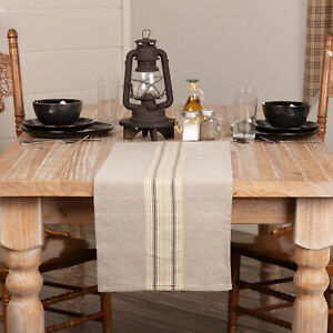 VHC Farmhouse Runner Sawyer Mill Tabletop Kitchen Tan Chambray Cotton