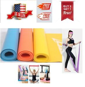 Resistance Band Stretch Pilates Yoga Physical Therapy Home Gym $10.99