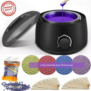 Professional Wax Warmer Heater Hair Removal Depilatory Home Waxing Kit Beans $25.99