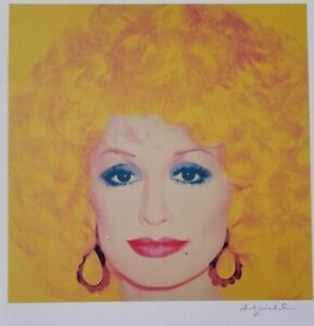 ANDY WARHOL HAND SIGNED PORTRAIT OF DOLLY PARTON FROM EXCLUSIVE CATALOG