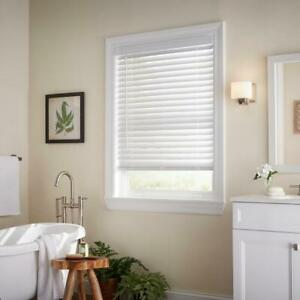 CUSTOM CUT Home Decorators White Cordless 2quot; Premium Faux Wood Blind