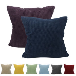 CURCYA Corduroy Velvet Cushion Cover Case Car Sofa Waist Throw Pillow Cover Soft $5.70