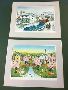 Two Original Signed Robert LoGrippo Lithographs Pristine Condition $69.00