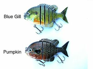 Blue Gill Fishing Lure For large Mouth Bass Stripers Musky and Pike
