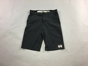 Boys Youth Under Armour Golf Shorts SZ 20 Running Gym Fitness Athletic Gray #915 $12.99