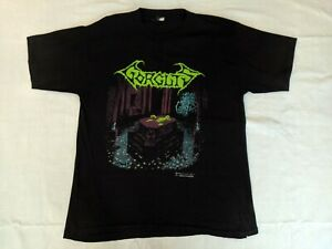 GORGUTS 1992 vintage CONSIDERED DEAD shirt L Blue Grape Blood Incantation Cynic