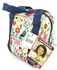 Fit & Fresh Lillie Chiller Insulated Lunch Bag Tote Chiller Set NWT $48.99