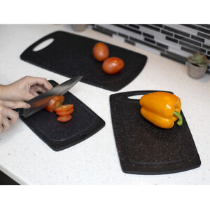 3 Piece Double Sided Non-Slip Cutting Board Set with Deep Juice Groove, EBY65390