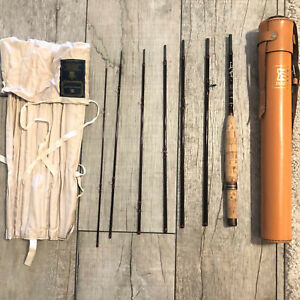 """House of Hardy Smuggler De-Luxe 8' 2 12"""" 7 Piece 6WT Graphite Fly Rod w Case"""