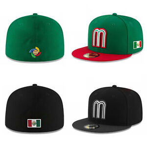 New Era 59Fifty Mens Cap Mexico World Baseball Classic Black Green Fitted Hat $32.99