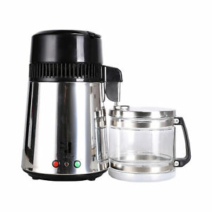 Countertop Water Distiller Stainless Steel 4L 750W 1L/H