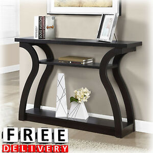 Modern Console Table 47quot; Wall Contemporary Entryway Storage Furniture Wood Shelf $184.79