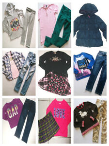 GIRLS SIZE 7 8 BACK TO SCHOOL CLOTHING LOT OF JUSTICE, UNDER ARMOUR, GAP, RALPH $129.00