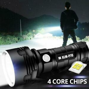 XHP70 LED Powerful Flashlight Torch USB Rechargeable Lamp 5 Modes Night Lighting $21.50
