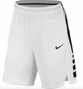 Nike Shorts for Boys Small White with Black Authentic Dri Fit Elite Basketball $23.99