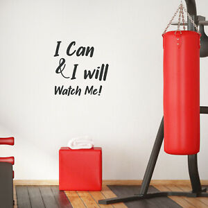 Vinyl Wall Art Decal I Can amp; I Will Watch Me Inspirational Quote 23* x 23*