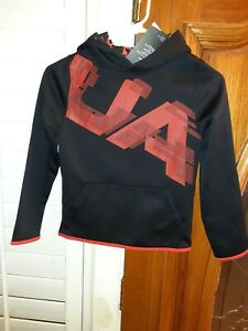 NEW Under Armour Youth Boys Sz SMALL 7 8 Athletic Hoodie Sweatshirt Shirt $40 $16.71