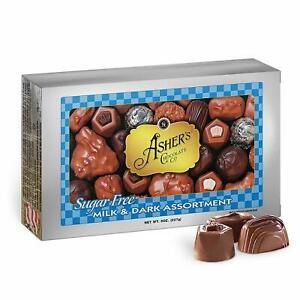 Asher's Chocolate, Sugar Free Chocolate Candy, Milk and Dark Chocolate Assortmen