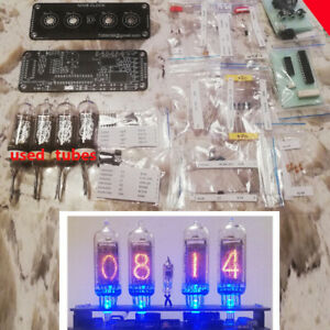 DIY KIT With Tubes Nixie Clock IN 14IN3 RGB Backlight Alarm *PCB Tubes Parts* $90.90