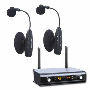 UHF Dual Channels 2 Wireless Instrument Microphone for Violin Guitar Accordion $189.99
