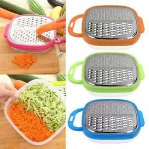 Kitchen Cheese Food Vegetable Carrot Grater Slicer Cutter Shredder W/ Container