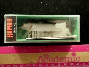Vintage Rapala Wood Handmade Balsa Wood CD 9 Silver Unfished In Box 3 1 2quot;