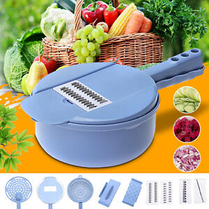 9pc Kitchen Mandoline Food Vegetable Fruit Julienne Slicer Cutter Grater Chopper