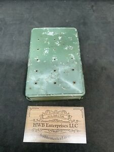 vintage fly box with flies