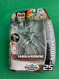 Marvel Legends Toys Я Us Wolverine 25th Silver Anniversary Action Figure $24.99
