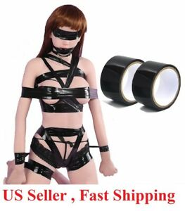 Cozy 2Pc audlt NON Sticky SM Restraint Bondage Pleasure Static Tape 100 feet