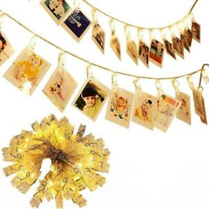 H.YOUNG Wall Deco LED Photo Clips String Lights,Perfect For Wedding Surprise