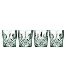 Waterford Markham Glasses Whisky Crystal Glass set 4 Double Old Fashioned Bar