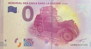Ticket 0 Euro Memorial of Civil in the War France 2017 Number 100 $40.14