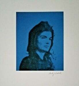 ANDY WARHOL HAND SIGNED PORTRAIT OF JACKIE KENNEDY FROM EXCLUSIVE CATALOG