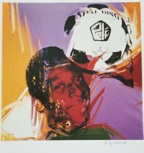 ANDY WARHOL HAND SIGNED PORTRAIT OF PELE FROM EXCLUSIVE CATALOG