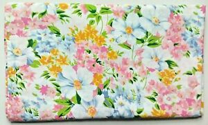 Vintage Tastemaker Bright Floral Full Double Flat & Fitted sheet J P Stevens