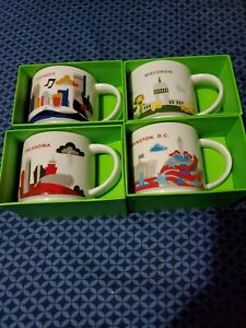 Miscellaneous lot of 4 Starbucks mugs