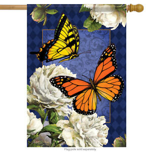 Classic Butterflies Spring House Flag Butterfly Double Sided Banner 28