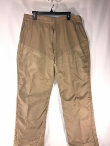 Bushmaster Hunting Pants size 40 tan beige nylon front guard Small Game 38x31