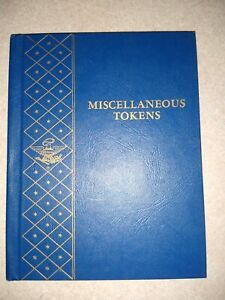 WHITMAN MISCELLANEOUS TOKENS ALBUM #9455 4 pages