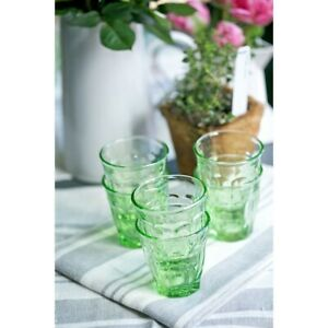 Hand Blown Green Bistro French Style