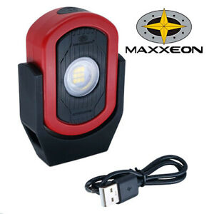 Maxxeon MXN00810 WorkStar Cyclops USB Rechargeable LED Work Light Magnetic RED